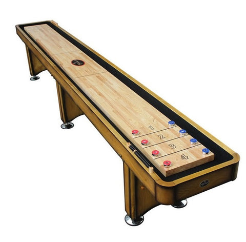 Standard Playcraft Georgetown 16' Shuffleboard Table in Honey Oak