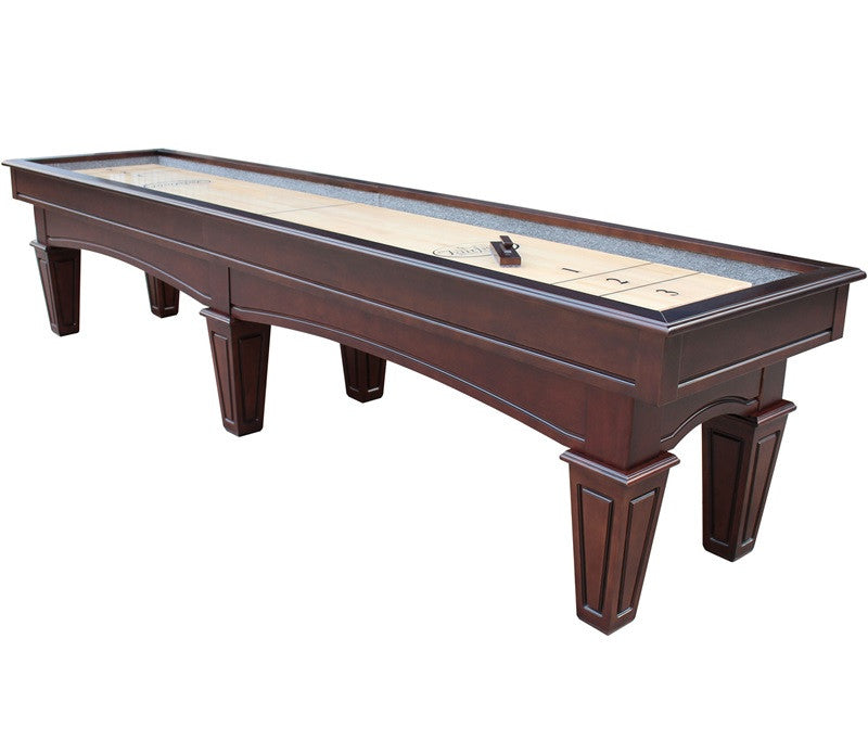 Furniture Style Playcraft St. Lawrence 12' Pro-Style Shuffleboard Table in Espresso