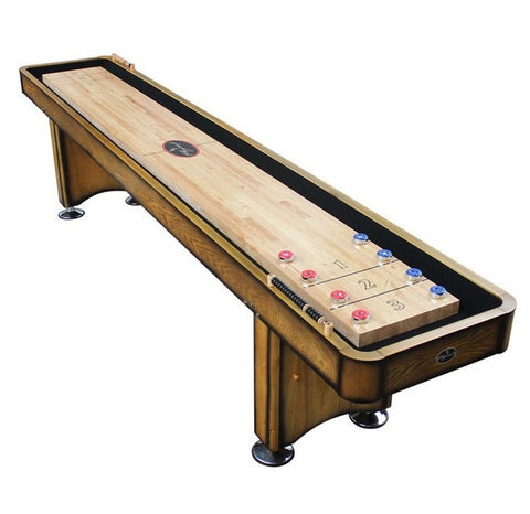 Standard Playcraft Georgetown 12' Shuffleboard Table in Honey Oak