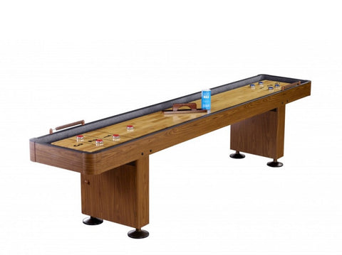 Carmelli Challenger 9' Shuffleboard in Walnut Finish