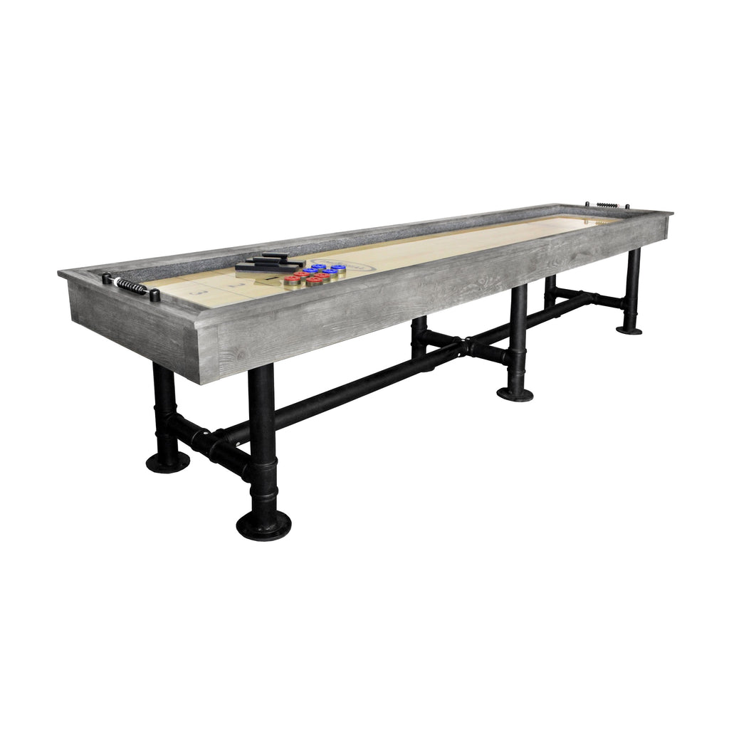 Retro Imperial Bedford 12' Shuffleboard Table in Silver Mist