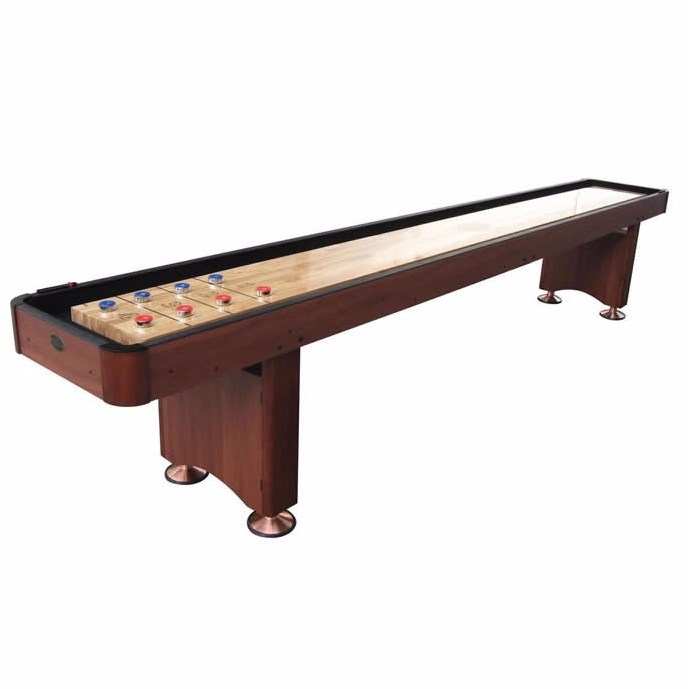 Standard Playcraft Woodbridge 12' Shuffleboard Table in Cherry