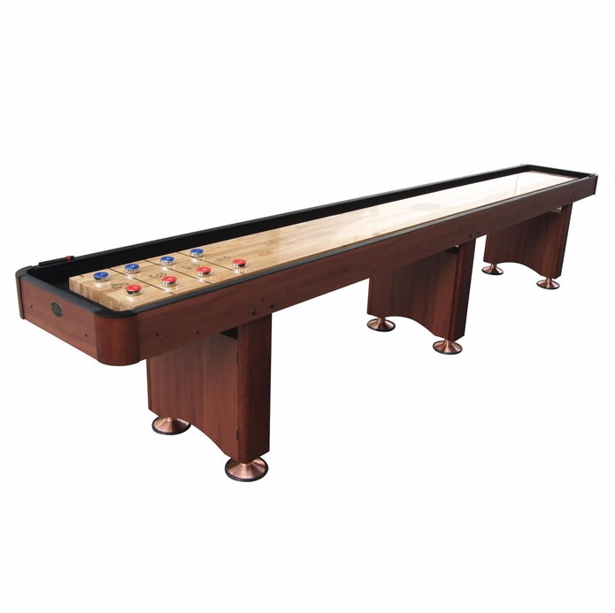 Standard Playcraft Woodbridge 16' Shuffleboard Table in Cherry
