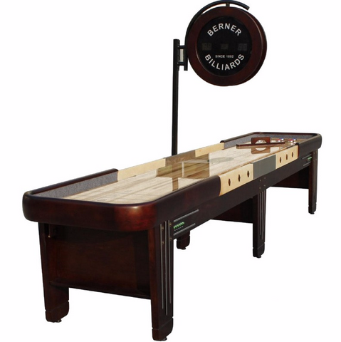 "Berner ""The Retro"" 16' Shuffleboard Table w/Electronic Scoring"