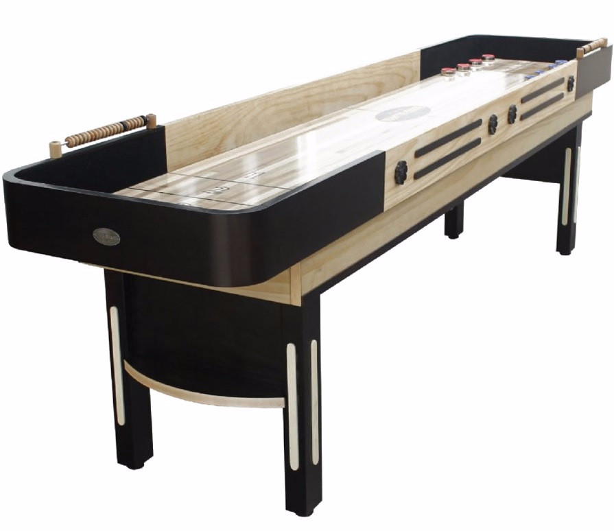 The Standard Foot Shuffleboard Table In Espresso By Berner Billiards - Standard shuffleboard table