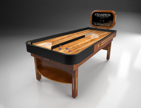 Custom Rebound Champion 7' Bank Shot Shuffleboard Table