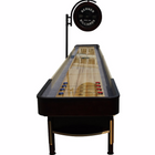 "Berner ""The Pro"" 16' Shuffleboard Table with Electronic Scoring in Espresso"
