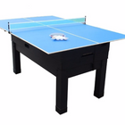 Berner 13-in-1 Combination Game Table in Black (Table Tennis Top)