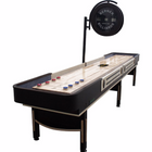 "Berner ""The Pro"" 12' Shuffleboard Table with Electronic Scoring in Espresso"
