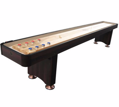 Standard Playcraft Woodbridge 9' Shuffleboard Table in Espresso