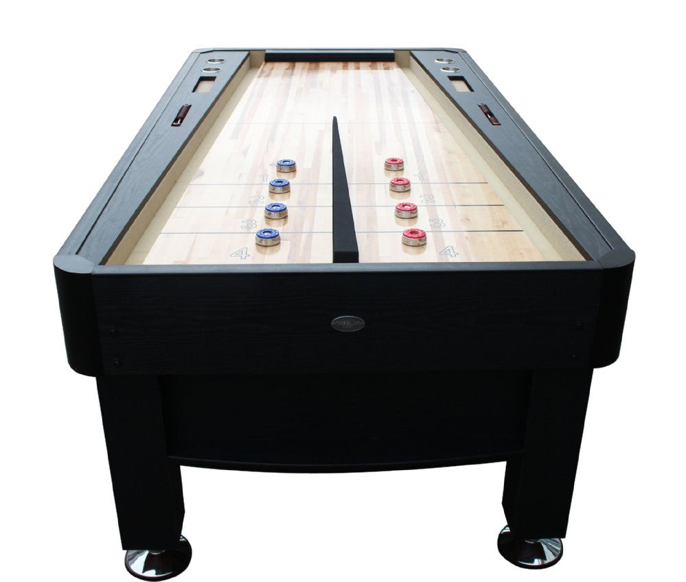 "Berner ""The Rebound"" 7' Shuffleboard Table in Black with optional Ping Pong Top"