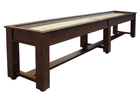 "Brown Wood Retro Berner ""The Rustic"" 16' Premium Shuffleboard Table"