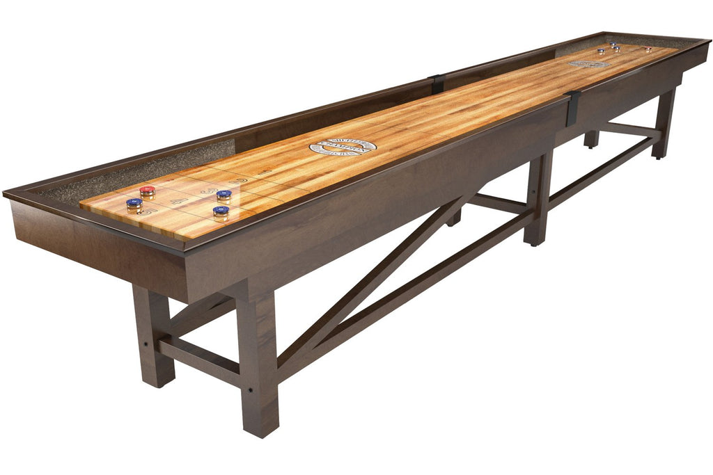 Custom Retro Champion Sheffield 12' Shuffleboard Table (Wood)