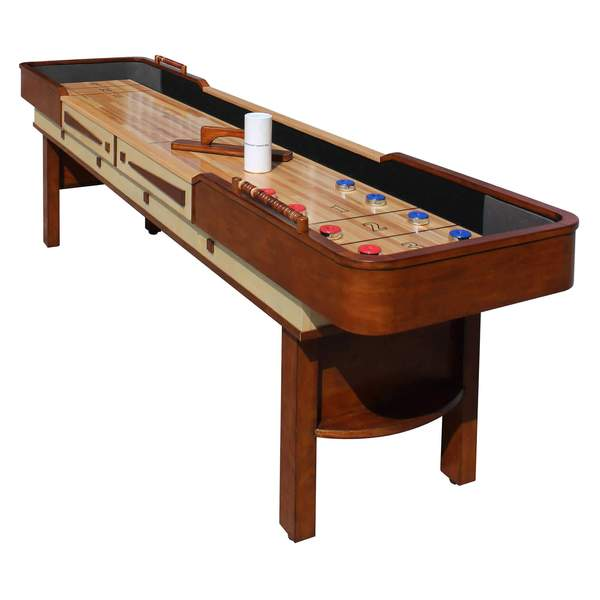 Vintage Carmelli Merlot 9' Shuffleboard Table in Walnut Finish