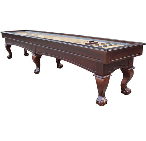 Furniture Style Playcraft Charles River 12' Pro-Style Shuffleboard Table in Espresso