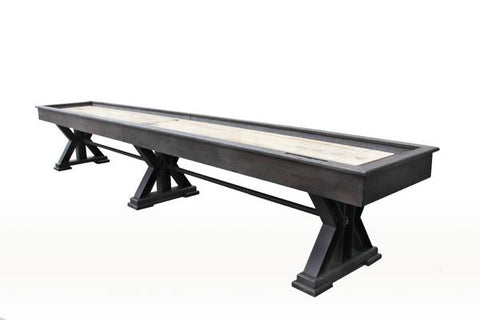 "Rustic Retro Berner 18' ""The Weathered"" Shuffleboard Table in Black Oak"