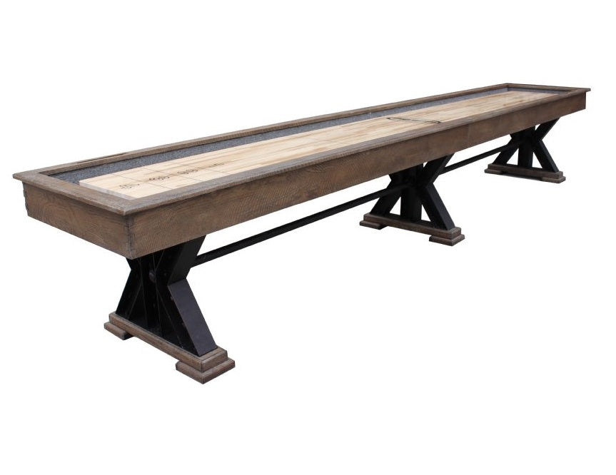 "Rustic Retro Berner 14' ""The Weathered"" Shuffleboard Table in Desert Sand"