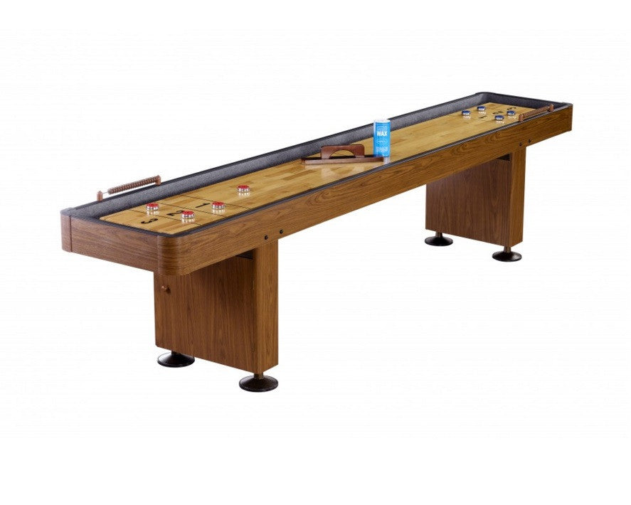 Carmelli Challenger 12' Shuffleboard in Walnut Finish