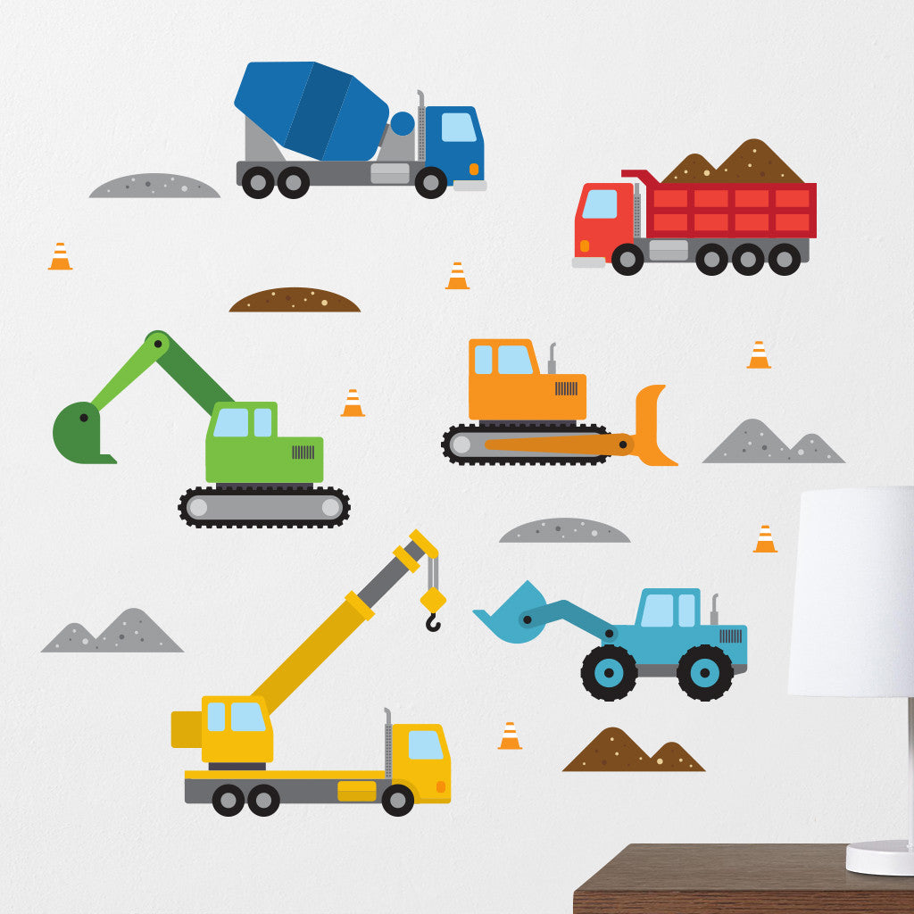 Construction Vehicle Wall Decals
