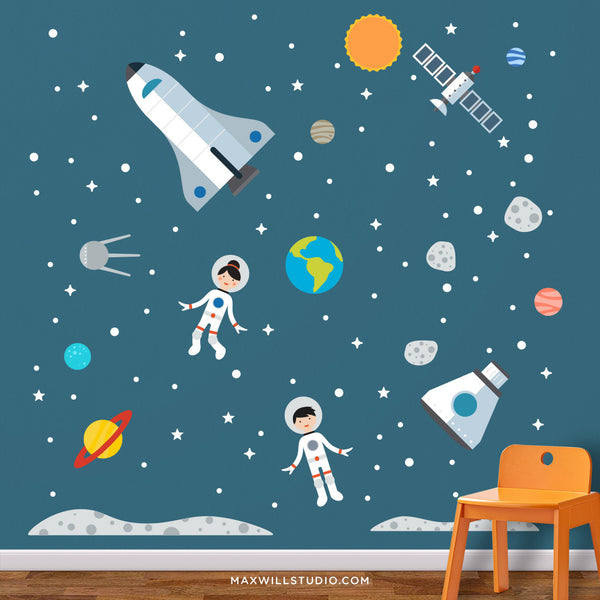 Space Astronaut Wall Decals