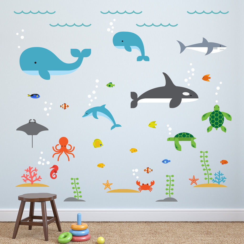 under the sea wall decals maxwill studio under the sea wall decals