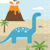 Dinosaurs Growth Chart Wall Decal (Personalized)