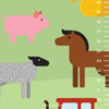 Farm Animals Growth Chart Wall Decal (Personalized)