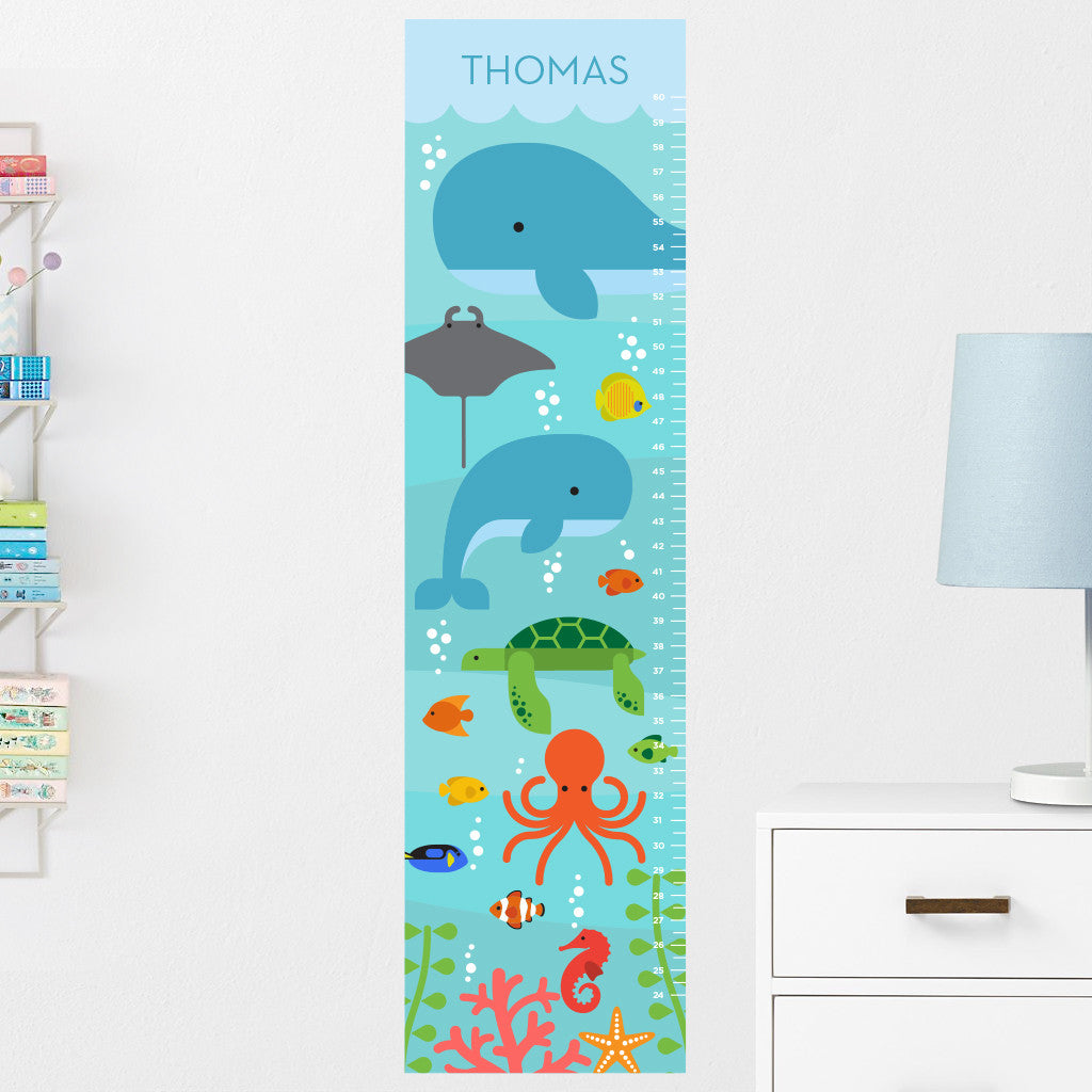 Under the Sea Growth Chart Wall Decal (Personalized)