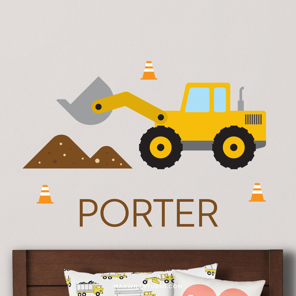 Front End Loader Wall Decal (Personalized)