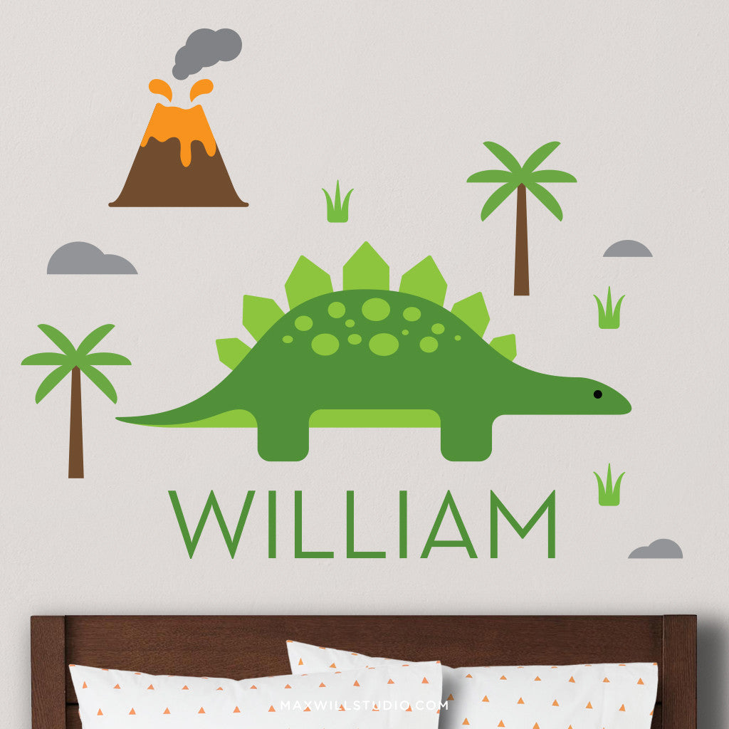 Stegosaurus Wall Decal (Personalized)