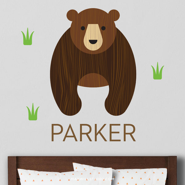 Bear Wall Decal (Personalized)