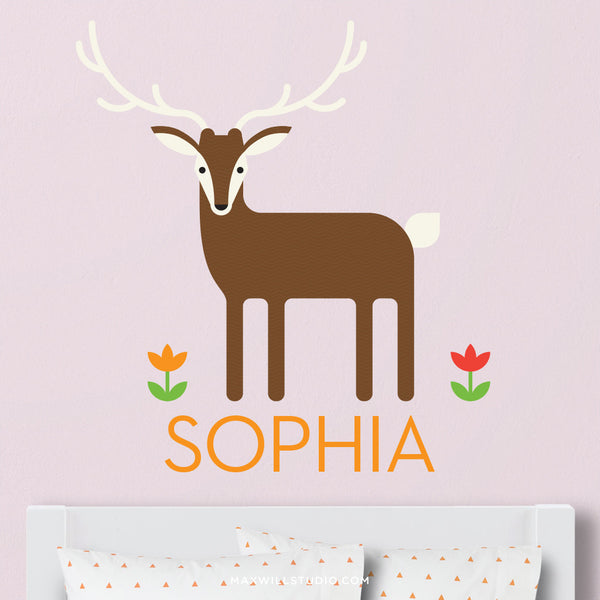 Deer Wall Decal (Personalized)