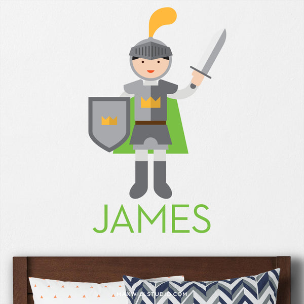 Knight Wall Decal (Personalized)
