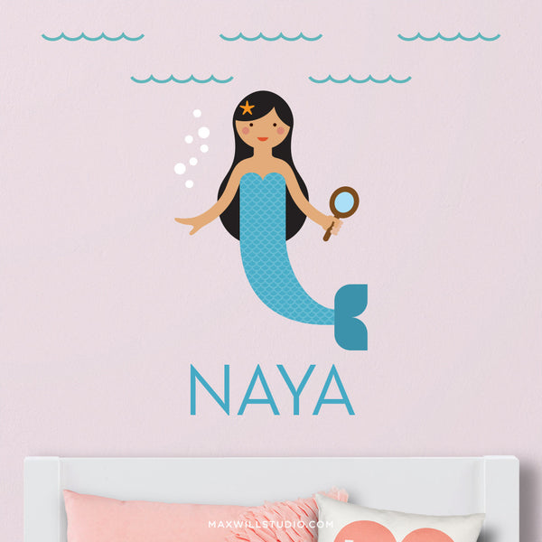 Mermaid Wall Decal (Personalized)