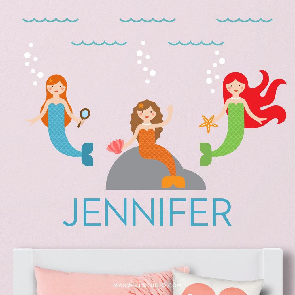 Mermaids Wall Decal (Personalized)