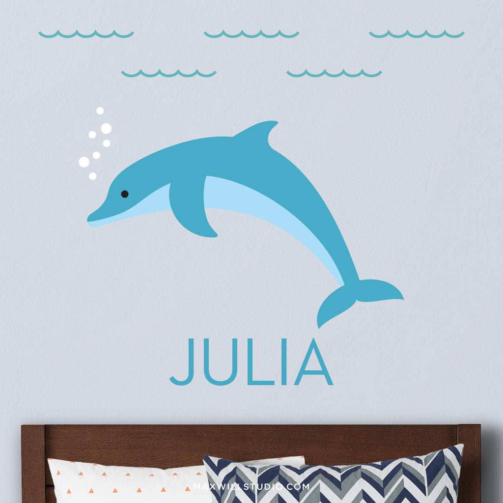 Dolphin Wall Decal (Personalized)