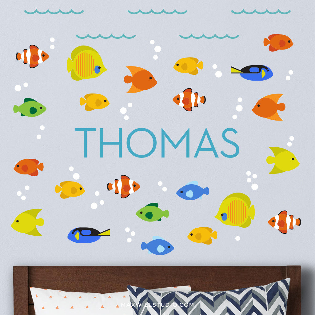 Ocean Fish Wall Decals (Personalized)