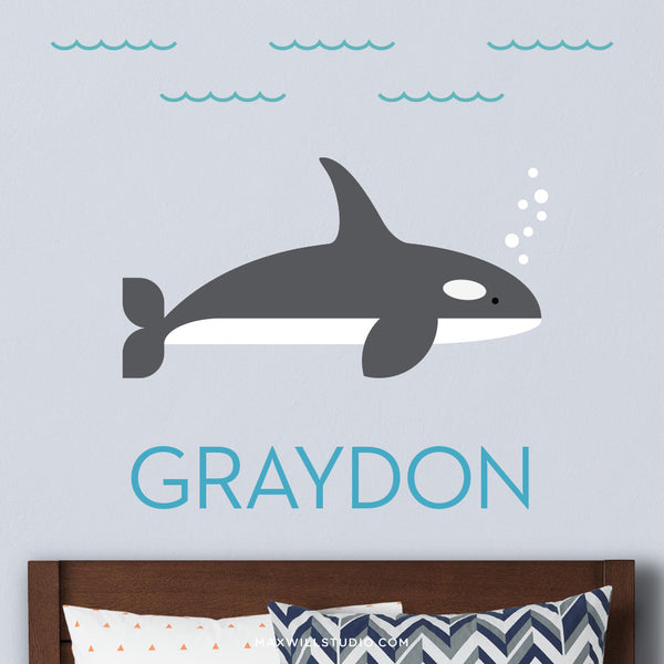 Orca Wall Decal (Personalized)