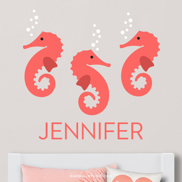 Seahorses Wall Decal (Personalized)