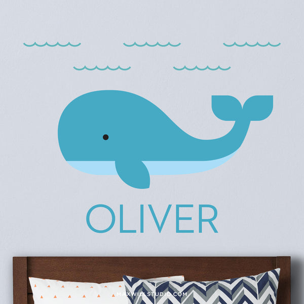 Whale Wall Decal (Personalized)