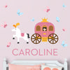 Princess & Carriage Wall Decal (Personalized)