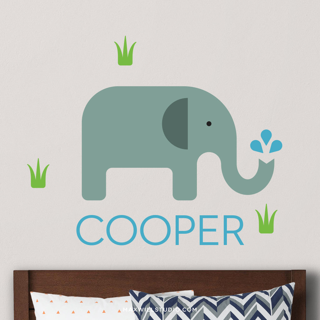 Charmant Elephant Wall Decal (Personalized)