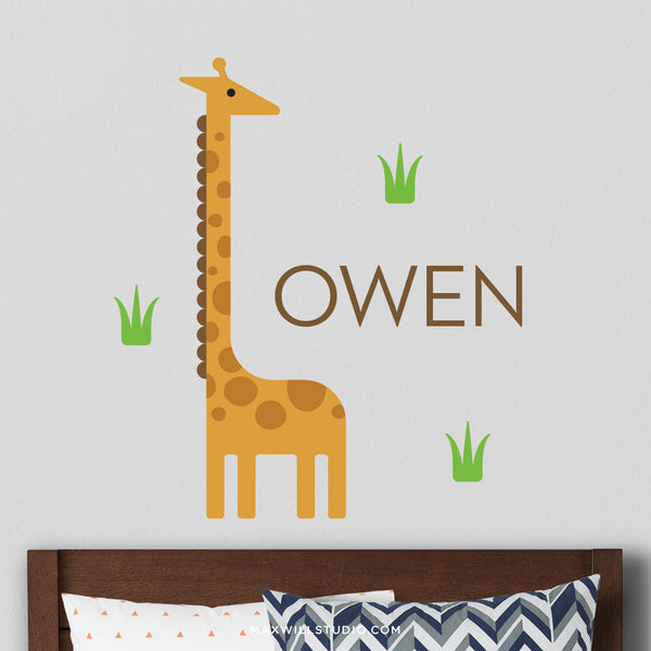 Giraffe Wall Decal (Personalized)