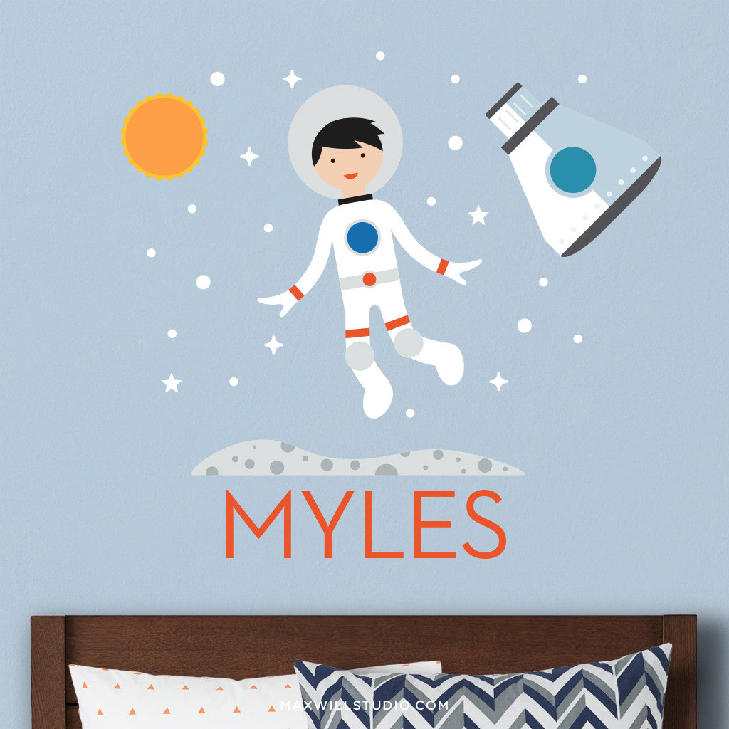 Spaceboy Wall Decal (Personalized) with Capsule