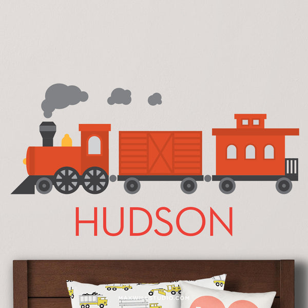 Train Wall Decal (Personalized)