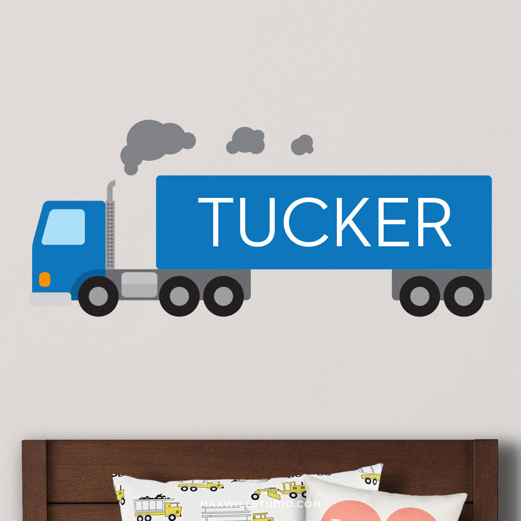 Blue Truck Wall Decal (Personalized)