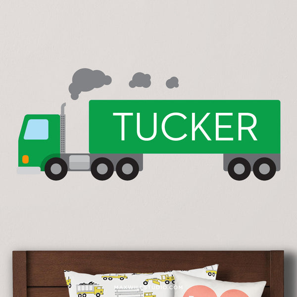 Green Truck Wall Decal (Personalized)