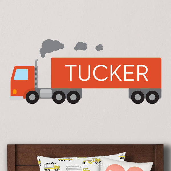 Red Truck Wall Decal (Personalized)