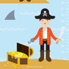 Pirates Growth Chart Wall Decal (Personalized)