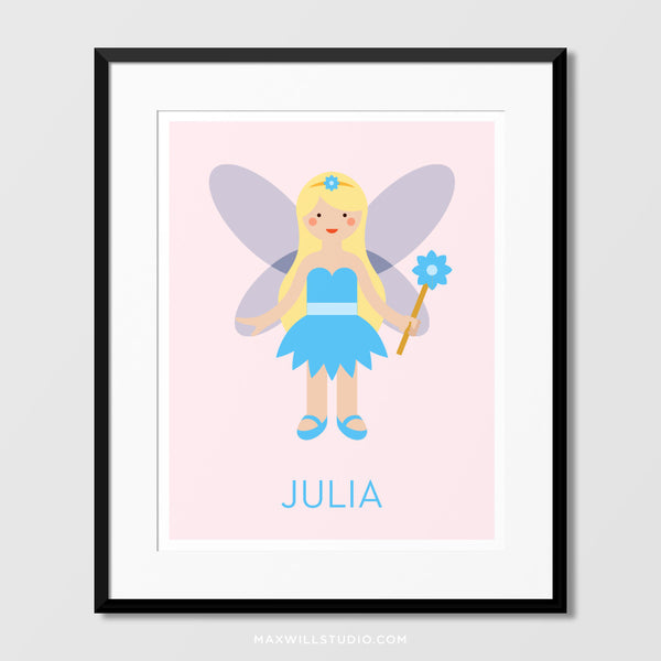 Blue Fairy Wall Art (Personalized)